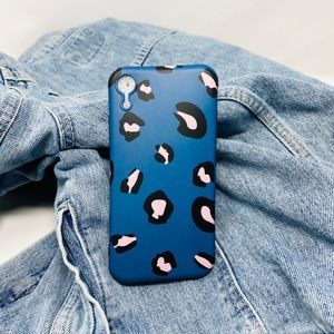 iPhone XR Case Pink and Blue Leopard Print